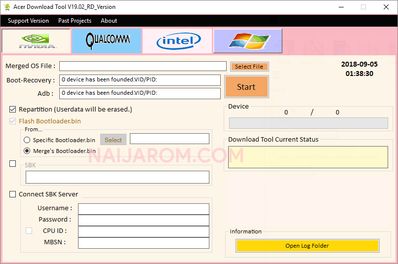 Acer Download Tool v19 02 - Best Acer Flash Tool 2019