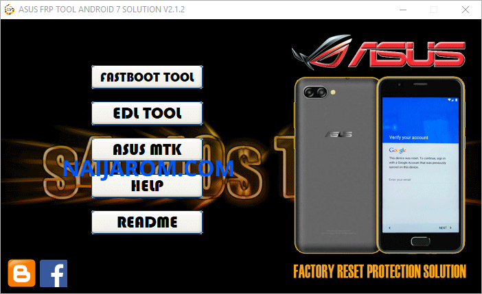 Asus FRP Tool Android 7 Solution v2.1.2
