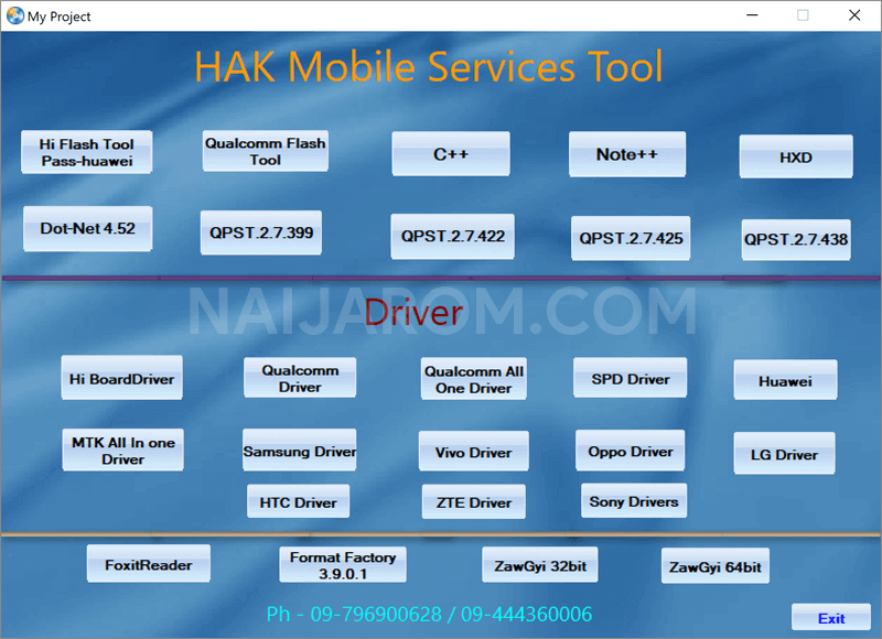 HAK Mobile Services Tool