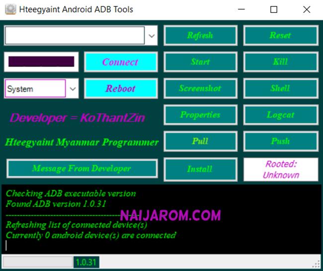 Hteegyaint Android Adb Tool