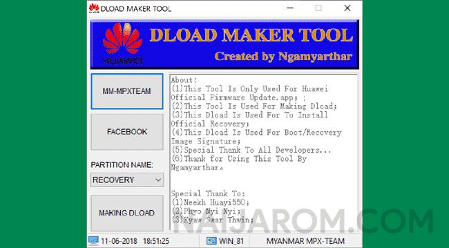 Huawei Dload Maker Tool