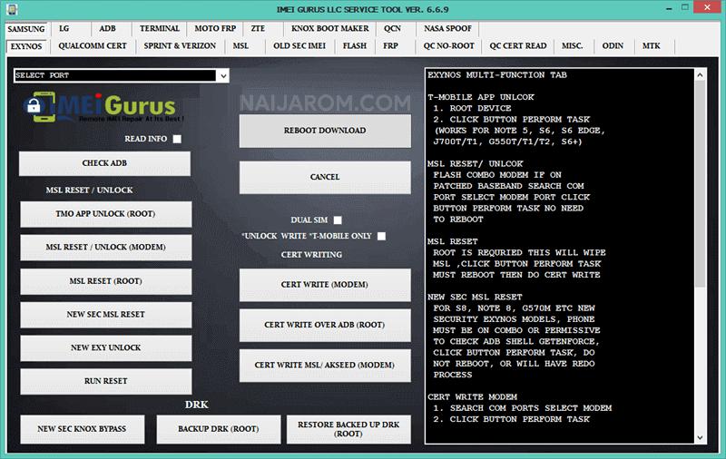 IMEI Gurus LLC Service Tool
