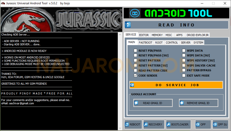 Jurassic Universal Android Tool v5.0.2