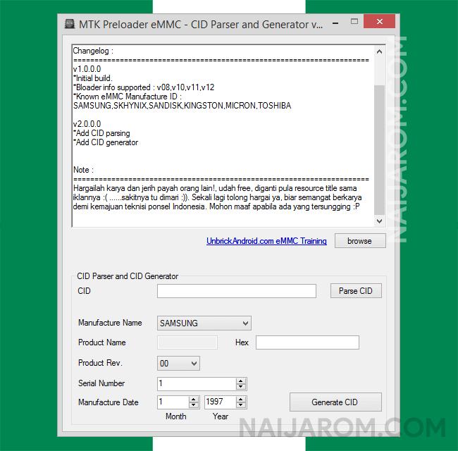 MTK Preloader eMMC v2 0 Tool (free download)