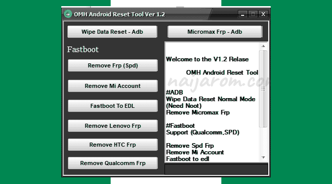 OMH Android Reset Tool v1.2