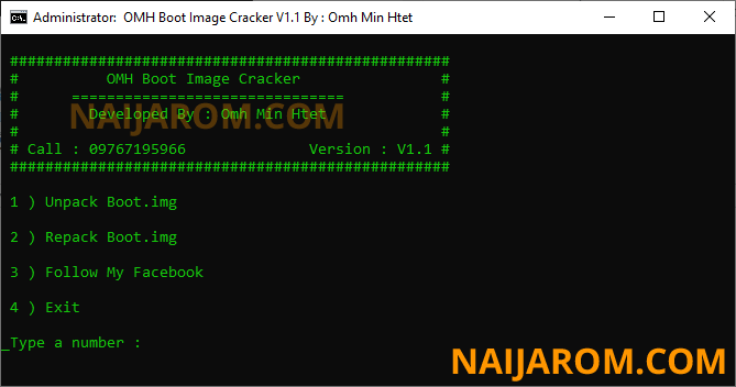 OMH Boot Image Cracker v1.1