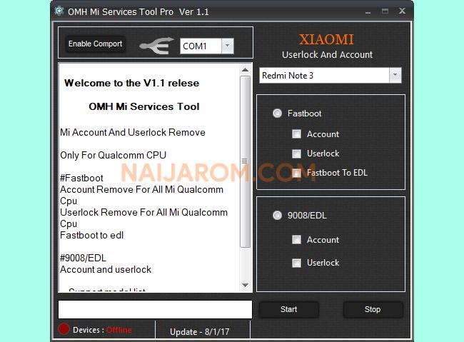 OMH Mi Services Tool Pro V1.1