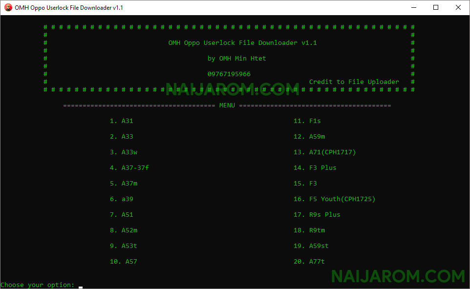 OMH Oppo Userlock File Downloader v1.1