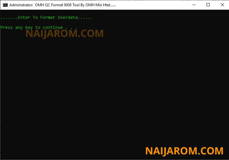 OMH QC Format 9008 Tool