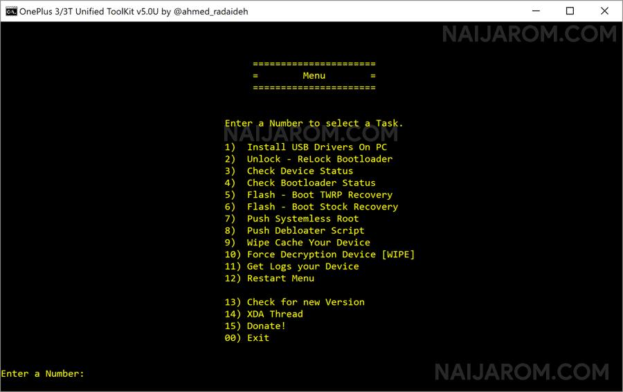 OnePlus 3 Toolkit v5.0U