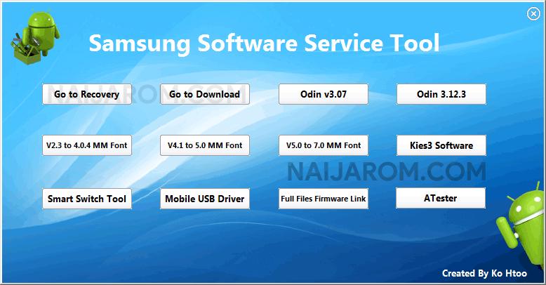 Samsung Software Service Tool